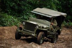 Jeep de Willy en fango Fotografía de archivo libre de regalías