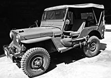 Jeep de Willys de voiture de vintage Photo stock