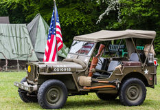 Jeep de WWII Image libre de droits