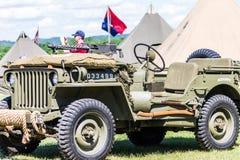 Jeep de WWII Imagen de archivo