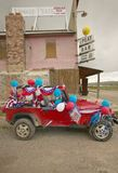 Jeep decorated for the Fourth of July,in Lima Montana Royalty Free Stock Photos