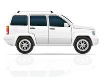 Jeep del coche del ejemplo del vector del suv del camino Fotografía de archivo libre de regalías