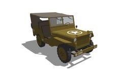 Jeep del Ejército del EE. UU. WW2 Imagen de archivo libre de regalías