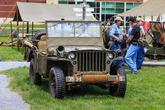Jeep dell'esercito degli Stati Uniti WWII Immagini Stock
