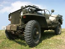 Jeep der AMERIKANISCHEN Armee Stockfotos
