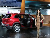 Jeep an der Automobilausstellung Lizenzfreies Stockfoto