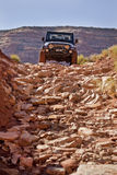 Jeep Descending a Rough Trail Stock Image
