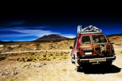 Jeep in the desert Stock Images
