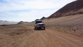 Jeep in the desert stock video footage
