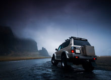 Jeep di avventura Fotografie Stock