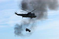 Jeep di trasporto dell'elicottero militare Immagini Stock Libere da Diritti