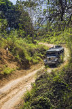 Jeep on Dirt Road Royalty Free Stock Image