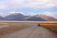 Jeep driving in Tibet Royalty Free Stock Image