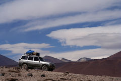 Jeep exploration of Altiplano Royalty Free Stock Photography
