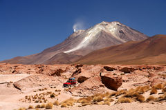 Jeep exploration of Altiplano Stock Photography