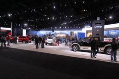 Jeep exposition. Chicago auto show February 2011 Stock Image