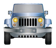 Jeep in front. Jeep blue silver in front  eps 10 Stock Images