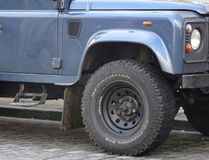 Jeep Front Wheel Fotografie Stock