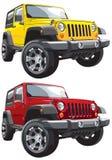 Jeep fuori strada Fotografie Stock