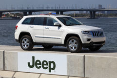 Jeep Grand Cherokee. Presented in Dubai Festival City. Photo taken at 17th of January 2012 Stock Photography