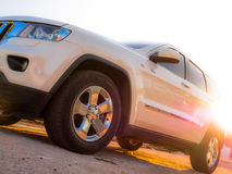 Jeep Grand Cherokee. Chrysler Jeep Grand Cherokee at the old streets in Brazil Stock Photos