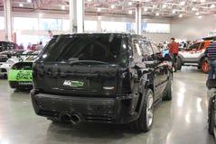 Jeep Grand Cherokee III week SRT8 van 1400 PK in Krokus Expo 2012 Royalty-vrije Stock Foto's