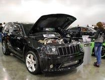 Jeep Grand Cherokee III week SRT8 van 1400 PK in Krokus Expo 2012 Stock Afbeelding