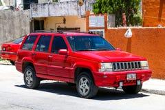 Jeep Grand Cherokee. TULUM, MEXICO - MAY 17, 2017: Motor car Jeep Grand Cherokee in the city street Royalty Free Stock Photo