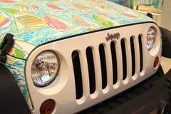 Jeep Hood operato Fotografia Stock Libera da Diritti
