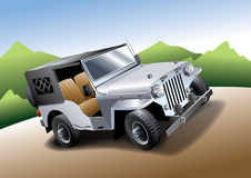 Jeep  illustration Royalty Free Stock Photo