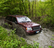 Jeep im Schlamm Stockfotos