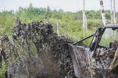 Jeep im Schlamm Lizenzfreies Stockfoto