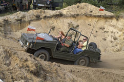 Jeep at the International Gathering of Military Vehicles in Borne Sulinowo, Poland Stock Photos