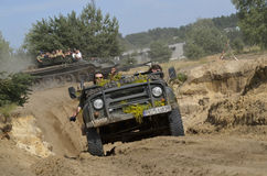 Jeep at the International Gathering of Military Vehicles in Borne Sulinowo, Poland Stock Photo