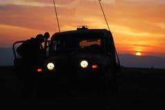 Jeep israeliana dell'esercito Immagine Stock