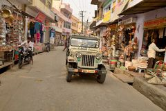 Jeep in Jaipur Stock Photo