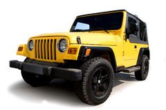 Jeep jaune photos stock