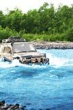 Jeep on Kamchatka Royalty Free Stock Photos