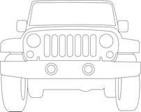 Jeep-LKW-umreiß lizenzfreie abbildung