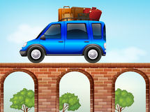 Jeep loaded with luggages Royalty Free Stock Image