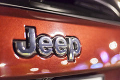 Jeep logo on a car Royalty Free Stock Photography