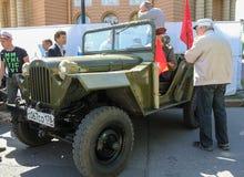 Jeep militare sovietica di tempo di guerra Fotografia Stock Libera da Diritti