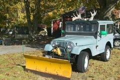 Jeep mit den Geweihen im Herbst, Acadia-Nationalpark, Maine Lizenzfreies Stockbild