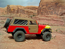 Jeep in Moab Stock Image