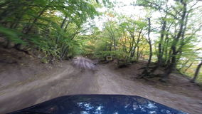 Jeep in the mountains go-pro stock video