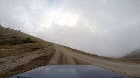 Jeep in the mountains go-pro stock video footage