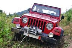 Jeep an nicht für den Straßenverkehr Stockbild