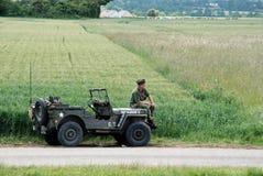 Jeep Normandia 2014 di Willy Fotografia Stock Libera da Diritti