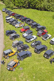 Jeep off road cars fans reunion. Royalty Free Stock Image