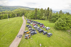 Jeep off road cars fans reunion. Stock Photos